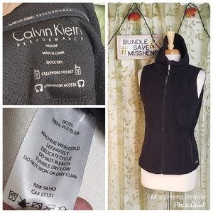CALVIN KLEIN PERFORMANCE BLACK FLEECE WINTER VEST